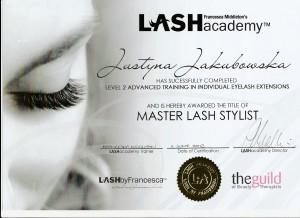 Eyelash extensions Certificate Beauty-Bar Hertfordshire