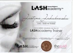 Eyelash extensions training Certificate Beauty-Bar Hertfordshire